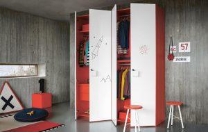 Jugendzimer gestalten Kleiderschrank